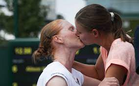 Petra kvitova reacts during her first round match against belgium's greet minnen reuters/sarah meyssonnier. Belgian Tennis Couple Blazing A Trail For Lgbt Community We Want To Inspire People Struggling With Coming Out