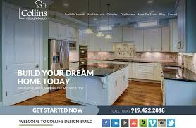 Collins Design Build Launches New Home Builder Website Adorable Home Builder Design