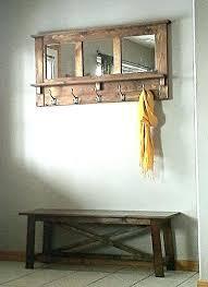 Mirror With Coat Rack Mirror With Coat Hooks Mirror Coat Hooks bothrametals 44