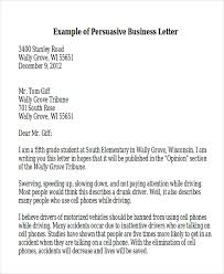 Professional Business Letters Examples Sample Persuasive Business Letter 7 Examples In Word Pdf With