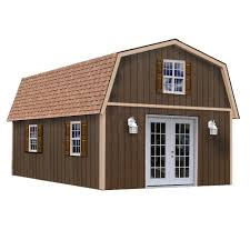 Best Barns Richmond 16 ft. x 24 ft. Wood Storage Building-richmond1624 -  The Home Depot