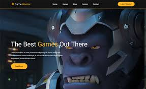 game warrior free bootstrap 4 html5