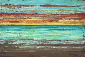 abstract beach painting sunset beach