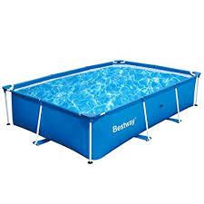 Rectangle above ground pool sizes Admirals Walk Image Unavailable Hashook Amazoncom Bestway 118 79 26 Inch Deluxe Splash Frame Pool