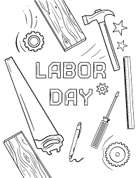 Small Picture Printable Labor Day coloring page Free PDF download at http