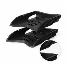 <b>Лоток пластиковый</b> для бумаг <b>ErichKrause</b>® S-Wing, черный ...