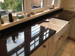 Granite Kitchen Worktop Stunning Black Galaxy Worktops Installed Spm Granite