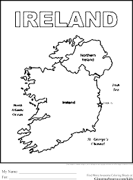 Ireland Coloring Pages Maps Coloring Pages Irish I Ireland