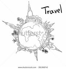 Small Picture Aviation Travel Doodle On White Background Stock Illustration