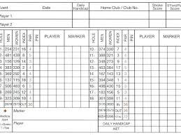 Golf Score Card Template Blank Golf Score Card Leaderboard Template Free Scorecard Lccorp Co