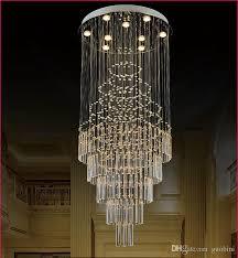 creative crystal chandelier large living duplex villa stairwell long led k9 crystal chandelier lighting fixtures restaurant hanging lights that plug in
