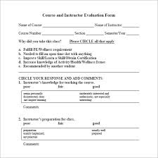 Instructor Feedback Form Template #ba7D477B0C50 - Englishinb