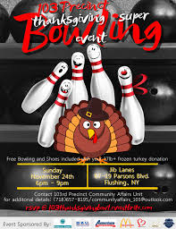 Bowling Event Flyer Thanksgiving Super Bowling Event Tickets Sun Nov 24 2019