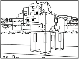 Minecraft Coloring Pages Steve Colouring Sword Creeper Face Rustic