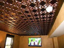 How To Install Decorative Ceiling Tiles Faux Copper Drop Ceiling Tiles Modern Intended For 100 Walkforpatorg 20