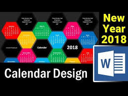 Word Year Calendar How To Design New Year Calendar 2018 In Ms Word Microsoft Word