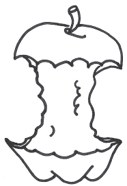 apple clipart black and white. apple core clipart black and white