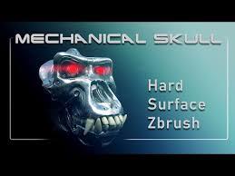 000 <b>Mechanical Skull</b> - Hard Surface ZBrush Intro - YouTube