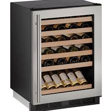 uline u 1224wcs 00a wine refrigerator 24 inch reversible glass door