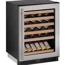 uline u 1224wcs 00a wine refrigerator 24 inch reversible glass door