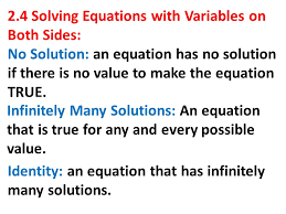 2 4 solving equations with variables on both sides