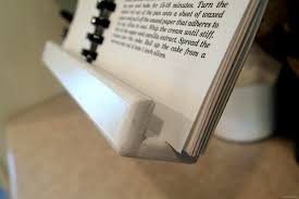 diy recipe book or tablet holder