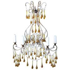 1930s crystal chandelier amber drops and circa astor round 40