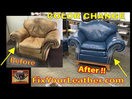 leather color change video
