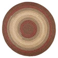 ombre spanish red 8 ft x 8 ft round indoor outdoor braided area