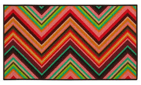 monarch joy pink orange chevron area rug