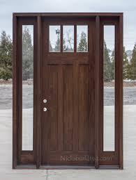 8 foot front doorCraftsman Exterior Wood Doors in 8 CL2121D