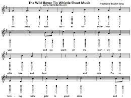 wagon wheel sheet music the wild rover tin whistle sheet music notes irish folk songs