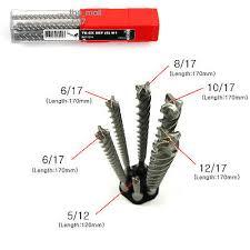 hilti hammer drill bits. new hilti hammer drill bit te-cx (6pcs) m1 set sds-pius bits