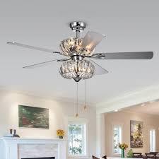 full size of living beautiful crystal chandelier ceiling fan 17 kyana 6 light 5 blade 52