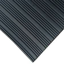 rubber cal corrugated composite rib 1 8 in x 36 in x 72 in black rubber flooring 03 167 w co 06 the home depot