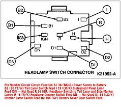 94 mustang headlight switch wiring diagram wiring diagram database 1996 Ford Bronco Wiring Diagram at Wiring Diagram 1996 Ford F250 Dimmer Switch