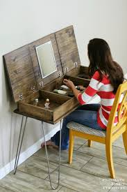 diy vanity table plans. pneumatic addict : hairpin make-up vanity [building plans and giveaway!!] diy table i