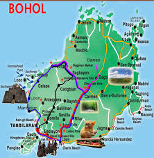 bohol map – affordable guest house in bohol