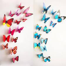 3d Butterfly Wall Decor 3d Wall Stickers 6 Big 6 Small Pvc 3d Butterfly Tatoos Wall
