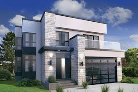 modern house.  House Modern Exterior  Front Elevation Plan 254415 Intended House Plans