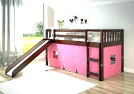 bunk bed with slide and tent. Twin Loft Bed With Slide Tent For Kids Beds Slides Bunk And O