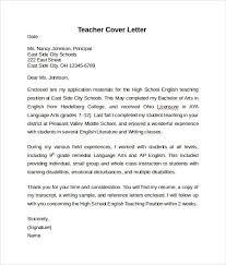 Teacher Resume Cover Letter Example Free Sample Teacher Cover Letter