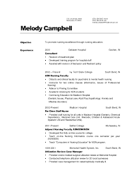 Resume Cover Letter Nursing Sample Examples Of Nurse Resumes