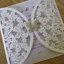 crystal erfly laser cut wedding invitation