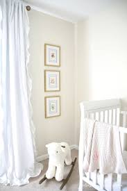 cream color paint with white furniture and curtains