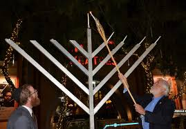 chanukah night four a celebration at westgate fountain park of lights by bette and ed sharpe glendale daily planet