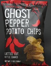 trader joe review nutrition calories ghost pepper potato chips