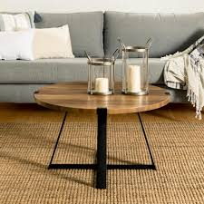 walker edison furniture company 30 in rustic oak and black rustic urban industrial wood and