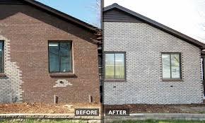 brick side wall repair