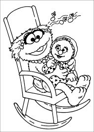 Sesame Street Coloring Pages Zoe And Baby Online Unblocked